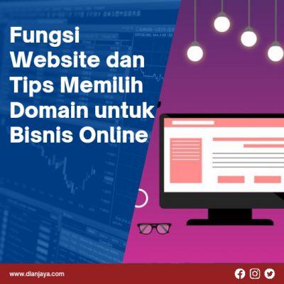 Fungsi Website dan Tips Memilih Domain untuk Bisnis Online